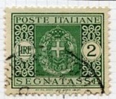 Italie - Italy - Italien Taxe 1934 Y&T N°T37 - Michel N°P34 (o) - 2l Chiffre - Postage Due