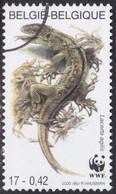 Specimen, Belgium Sc1799 WWF, Endangered Amphibian & Reptile, Sand Lizard - Unused Stamps