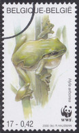 Specimen, Belgium Sc1800 WWF, Endangered Amphibian & Reptile, European Tree Frog, Grenouille - Unused Stamps