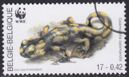 Specimen, Belgium Sc1801 WWF, Endangered Amphibian & Reptile, Fire Salamander - Unused Stamps