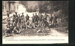CPA Verberie, Camp-Ecole De Scoutisme Francais De Cappy, Comment Employer La Hache - Verberie