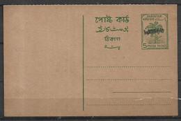 PAKISTAN POSTCARD OVER PRINT BANGLADESH RARE  MINT - Bangladesh