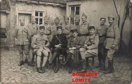 Guerre 1914 1918 Photo Cpa Photographie 38e Regiment Groupe Soldats Militaires Officier Medaille Militaire Soldat - Guerra 1914-18