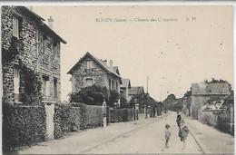 93, Seine-Saint-Denis, BONDY,  Chemin Des Coquetiers, Personnages,  Scan Recto-Verso - Bondy