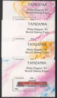 Tanzania - 1991 - N°Mi. Bloc 149 à 152 - Trains - Neuf Luxe ** / MNH / Postfrisch - Trenes