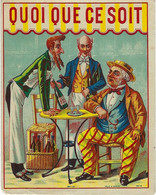 ETIQUETTE ANCIENNE CHROMOGRAPHIE PUBLICITE HUMOUR ALCOOLS LIQUEURS - Unclassified