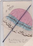 Vive Sainte Catherine . Carte Avec Ajout Bonnet Rose En Tissu ,cordon Et Paillettes . Si Vous Le Trouvez à Votre Goût... - St. Catherine