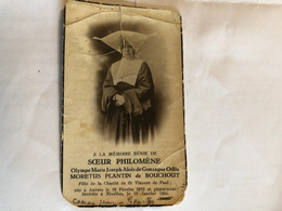 Soeur Philomene Olympe Moretus Plantin De Bouchout File De La Charite De St Vincent De Paul *1872 Anvers +1934 Nivelles - Obituary Notices