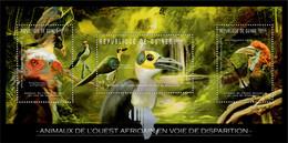 Guinea 2012 - Endangered Animals Of West Africa, Birds. Y&T 6256-6258, Mi 9179-9181 - Guinea (1958-...)