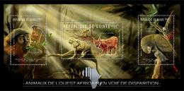 Guinea 2012 - Endangered Animals Of West Africa, Animals & Birds. Y&T 6244-6246, Mi 9152-9154 - Guinea (1958-...)