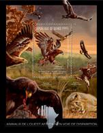 Guinea 2012 - Endangered Animals Of West Africa, Birds. Y&T 1362, Mi 9192/Bl.2081 - Guinea (1958-...)
