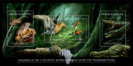 Guinea 2012 - Endangered Animals Of West Africa, Reptiles & Birds. Y&T 6274-6276, Mi 9167-9169 - Guinea (1958-...)