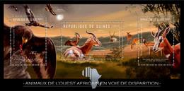 Guinea 2012 - Endangered Animals Of West Africa, Animals & Birds. Y&T 6247-6249, Mi 9155-9157 - Guinea (1958-...)