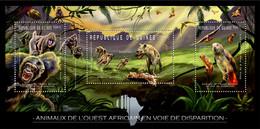 Guinea 2012 - Endangered Animals Of West Africa, Animals & Birds. Y&T 6241-6243, Mi 9149-9151 - Guinea (1958-...)
