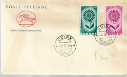 "Fdc Poste Italiane  ""Cavallino"" : EUROPA 1964;  No Viaggiata; AF_Udine - F.D.C."
