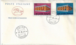 "Fdc Poste Italiane  ""Cavallino"" : EUROPA 1969;  No Viaggiata; AF_Udine - F.D.C."