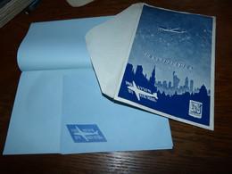 Ensemble Pour Courrier Papier à Lettre Et Enveloppe Avion Constellation Par Avion By Air Mail No Sabena No Air France - Stationery