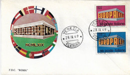 Fdc Roma : EUROPA 1969;  No Viaggiata; AF_Venezia - F.D.C.