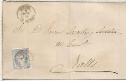 GOBIERNO PROVISIONAL  ENVUELTA  DE TORTOSA A VALLS TARRAGONA 1870 - Cartas