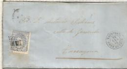 GOBIERNO PROVISIONAL  ENVUELTA  DE MORA DE EBRO A TARRAGONA 1872 - Cartas