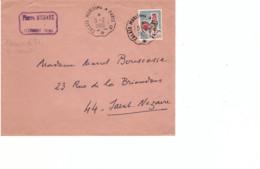 FRANCE - Lettre Calais Maritime à Paris - Cachet Chemin De Fer - Timbre Coq Decaris - 5-2-1966 - Briefe U. Dokumente
