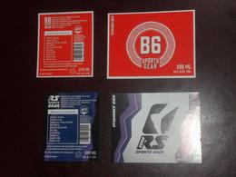2 X Belgisch Bieretiket Belgie Beveren - Birra
