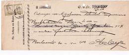 DDX783 -- BERLAERE Bij DENDERMONDE - Reçu TP Pellens WETTEREN 1914 - Entete Fr. Arbyn En Zonen , Fabrikanten - 1912 Pellens
