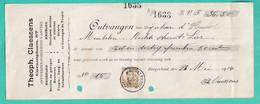 DDX784 -- BORGERHOUT - Reçu TP Pellens 1914 - Entete Meubles , Scierie Théoph. Claessens - 1912 Pellens