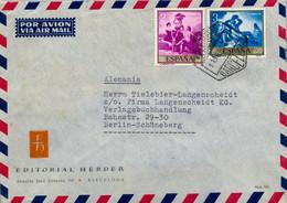 1960 - BARCELONA / SCHÖNEBERG , SOBRE CIRCULADO , ED. 1218 / 1219 , GOYA , PINTURA , PAINTING - 1961-70 Covers