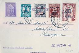 1936 , NAVARRA - CASCANTE  , TARJETA POSTAL PATRIÓTICA , PATRIÓTICOS DE NAVARRA Y LOCAL DE TAFALLA - 1931-50 Covers