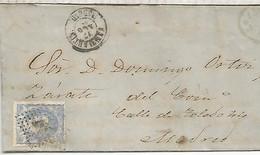 GOBIERNO PROVISIONAL  ENVUELTA ESCRITA DE SAN MARTIN DE VALDEIGLESIAS A MADRID 1872 - Cartas