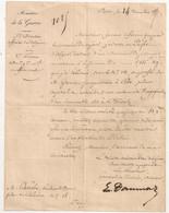 1867 LETTRE AUTOGRAPHE GENERAL EUGENE DAUMAS / MINISTERE DE LA GUERRE / ALGERIE BLIDAH SENATEUR C1113 - Documenten