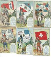 7 CHROMO A LA MAISON DOREE LEROY NOTRE DRAPEAU 1890 IMP. J. CHARLES - Ohne Zuordnung