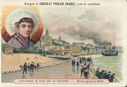 CHROMO CHOCOLAT POULAIN BOULOGNE-SUR-MER 1900 - Poulain
