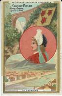 CHROMO CHOCOLAT POULAIN ANCIENNES PROVINCES FRANCAISES LE DAUPHINE 1900 RELIEF - Poulain