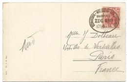 GERMANY GERMANIA 10C KARTE AMBULANT STRASSBG MOLSHEIM SCHETTSTADT 17.8.1911 - Alsace Lorraine