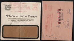 France 2 Enveloppes Avec Oblitération Mécanique OMEC 1 De 1961 L'autre De 1974 Moto Et Centre Presse - 1961-....