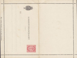 Denmark Postal Stationery Ganzsache Entier 1902, 10 Øre Korrespondence-Kort Unused (2 Scans) - Interi Postali