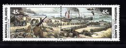 Marshalleilanden 1990 Mi Nr 305 + 306 , 2e Wereldoorlog Evacuatie Duinkerken - Marshallinseln