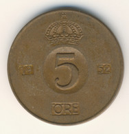 SVERIGE 1952: 5 Öre, KM 822 - Zweden