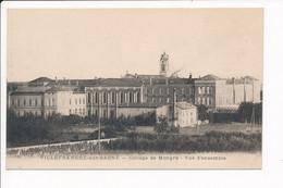 Carte De VILLEFRANCHE SUR SAONE  Collège De Mongré ( Recto Verso ) - Villefranche-sur-Saone