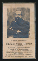 DOKTER GENEESKUNDE - OSCAR DEPREST  DRONGEN 1877  MOERKERKE  1922 - Obituary Notices