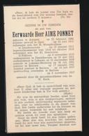 PASTOOR BERLARE  AIME PONNET  AAIGEM 1886  BERLARE 1957 - Obituary Notices