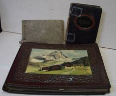 Lot. 1393. Lot De Trois Anciens Albums Photos, Les 2 Petits Sont Vident, Le Grand Possède Des Photos - Zubehör & Material