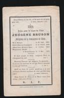 PATER D'EUGENE BRUSON  - BRUGGE 1815  DRONGEN 1878 - Obituary Notices