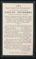 PATER PAULUS DUTREMEZ   - ANTWERPEN 1857 - LOURDES OOSTAKKER 1918 - Obituary Notices