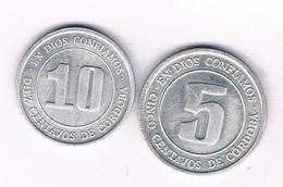 10+5 CENTAVOS 1974 NICARAGUA /7618/ - Nicaragua