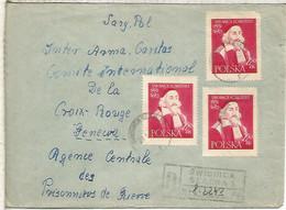 POLONIA CC CERTIFICADA SELLO COMENIUS TEOLOGIA 1956 A AGENCIA CENTRAL PRISIONEROS DE GEURRA - Teologi