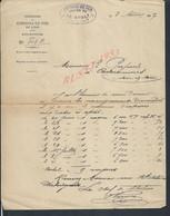 FACTURE CHEMIN DE FER DE L EST STATION DE LE GAULT SOIGNY ?  1907 : - Railway