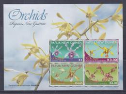 Papua New Guinea 2010 Orchids Sheetlet MNH - Papua-Neuguinea